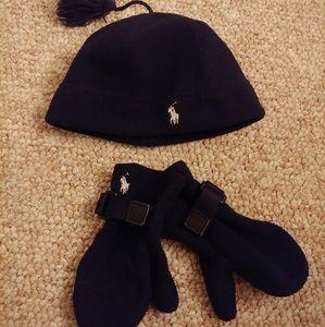 Ralph Lauren Hat & Mittens Set
